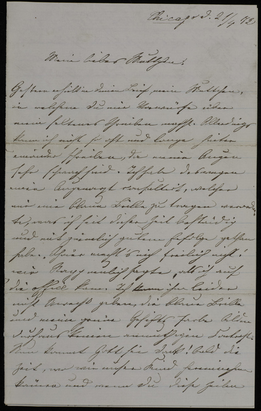Margarethe Raster and Gertrud Oppenheim to Anna Oppenheim, April 21, 1872