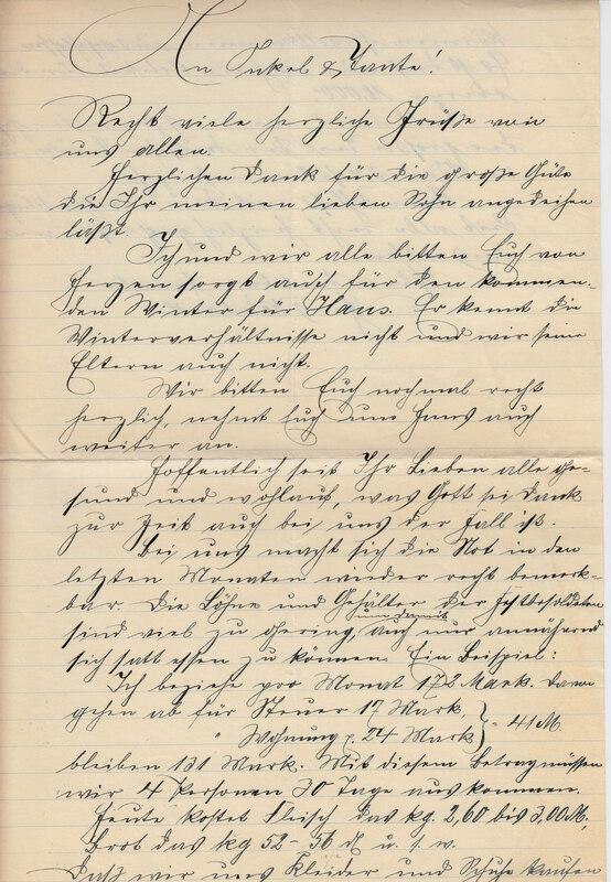 Johann P. Weinhardt to John V. Weinhardt and William W. Weinhardt and Carrie Weinhardt , July 28, 1925