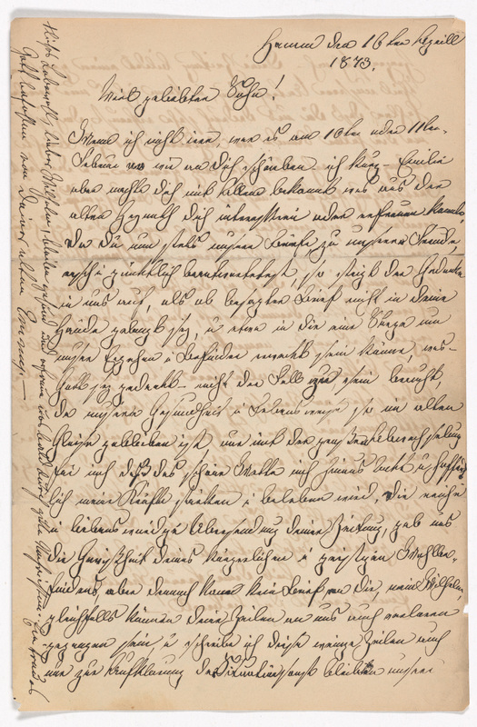 Emilie Hassel and Marianne Hassel to Friedrich Wilhelm Hess, April 16, 1873
