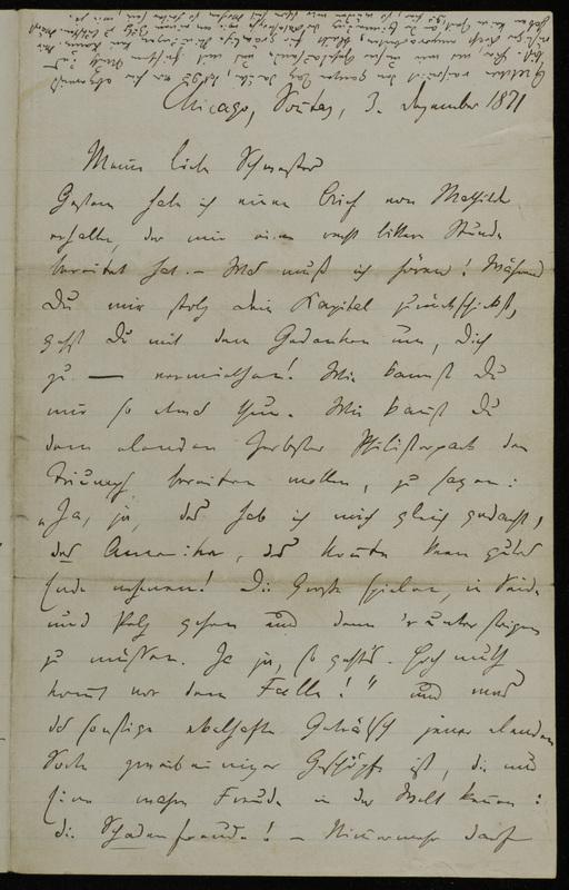 Hermann Raster to Sophie Raster, December 3, 1871