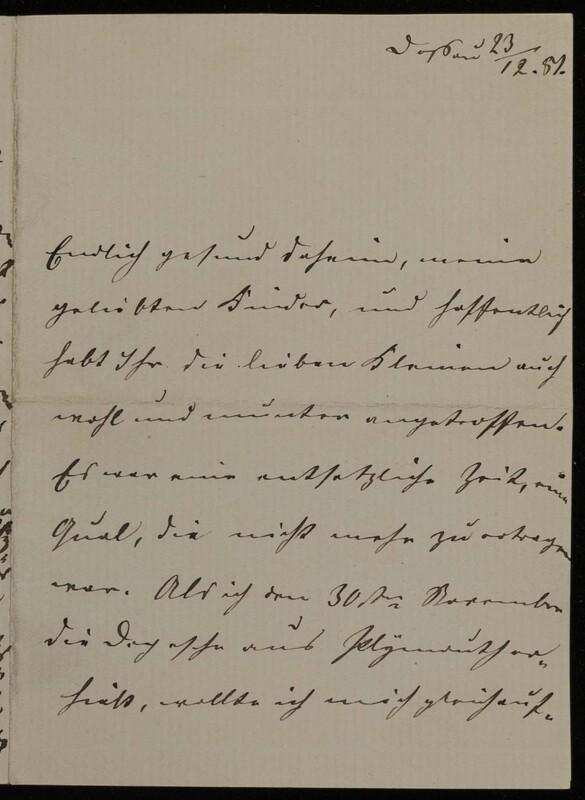 Anna Oppenheim to Margarethe Raster, December 23, 1881