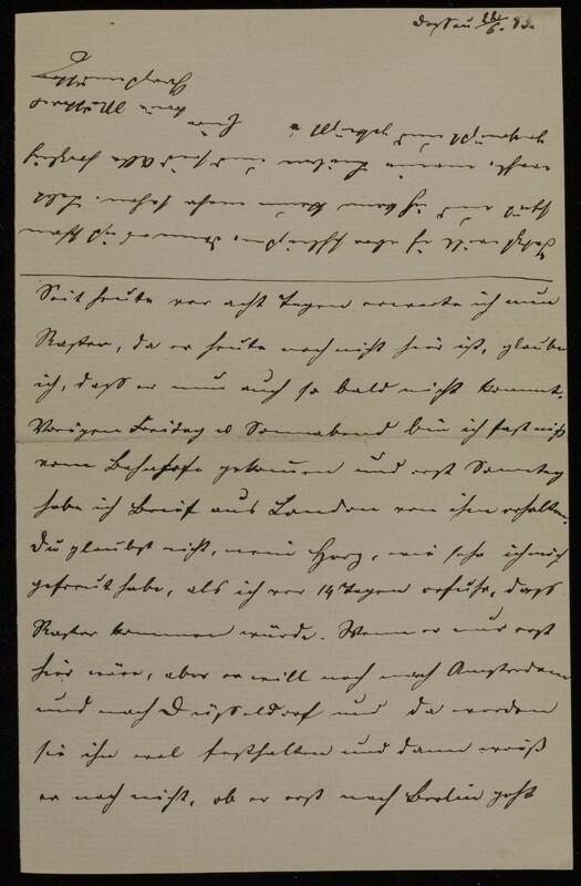 Anna Oppenheim to Margarethe Raster, June 22, 1883