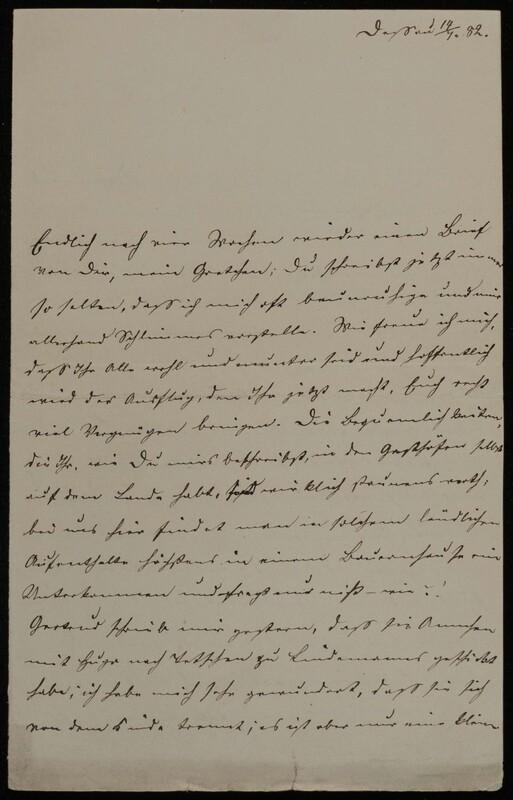 Anna Oppenheim to Margarethe Raster and Hermann Raster, July 14, 1882