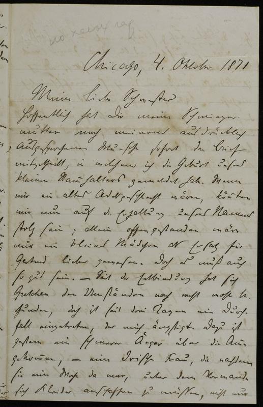 Hermann Raster to Sophie Raster, October 4, 1871