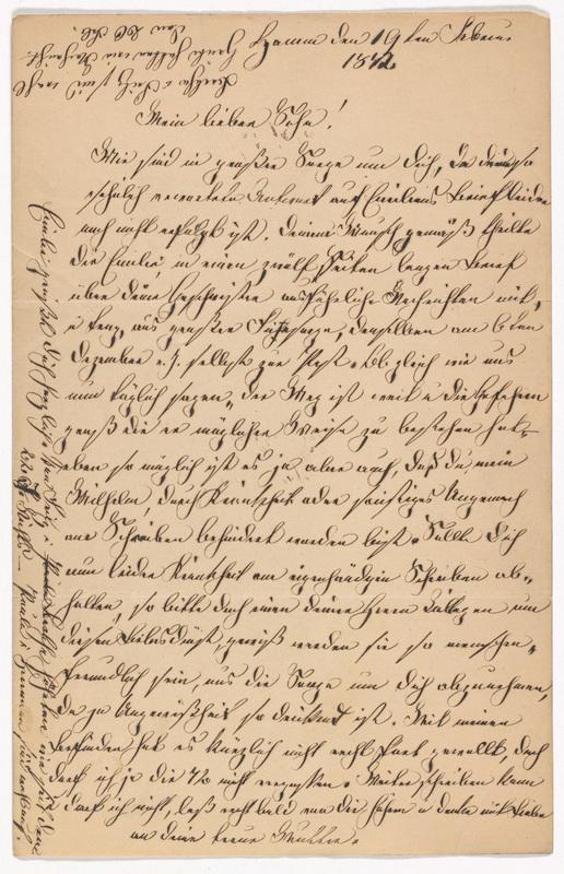 Marianne Hassel to Friedrich Wilhelm Hess, February 19, 1872