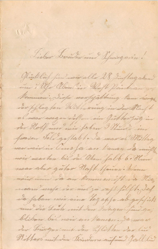 Wuellner family letter, March 3, 1893