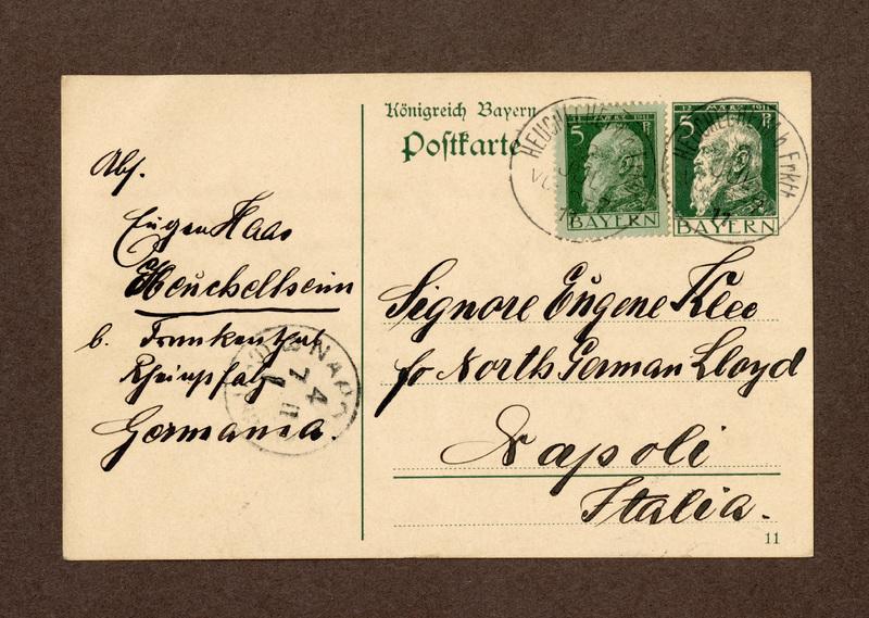Eugen Haas to Eugen Klee, July 2, 1911