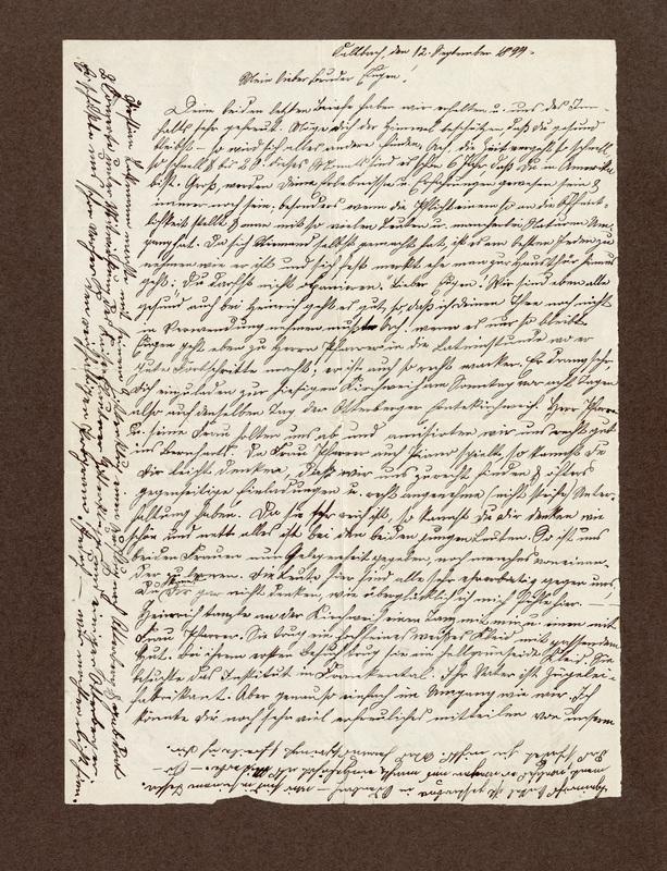 Klee family letter, September 12, 1899