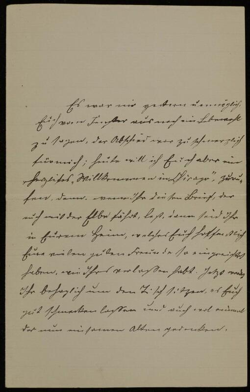 Anna Oppenheim to Margarethe Raster, October 15, 1886