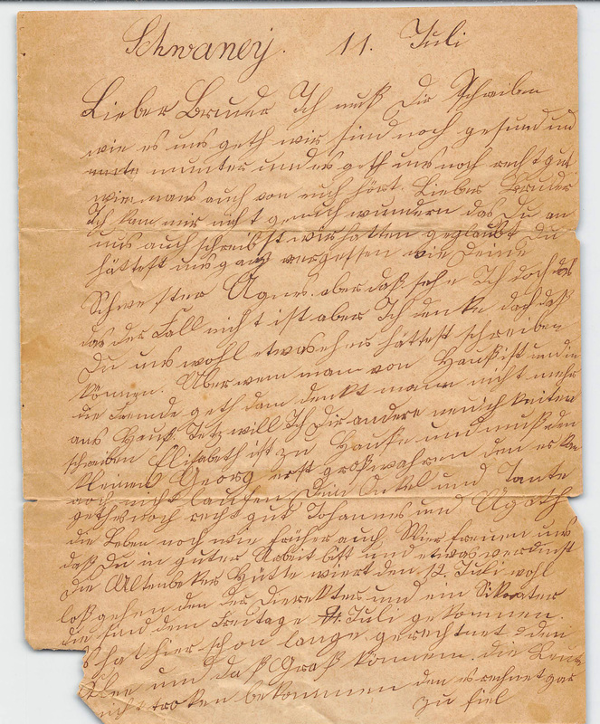 Wuellner family letter, July 11, year unknown