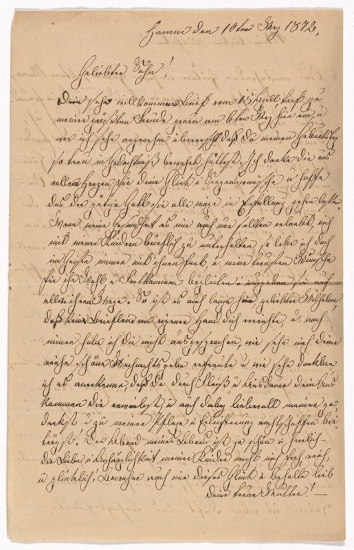 Emilie Hassel and Marianne Hassel to Friedrich Wilhelm Hess, May 10, 1872