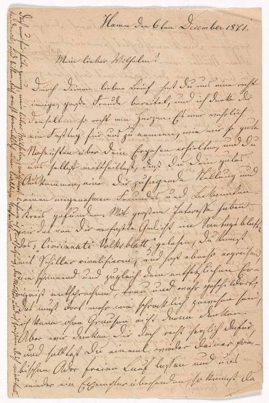Emilie Hassel to Friedrich Wilhelm Hess, December 6, 1871