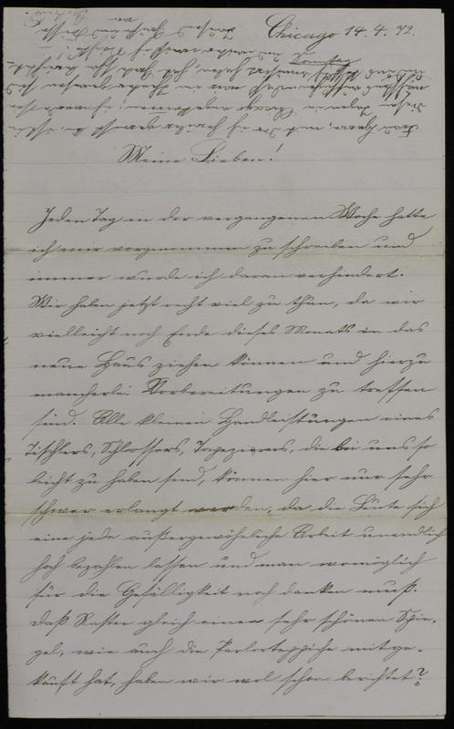 Raster family letter, April 14, 1872