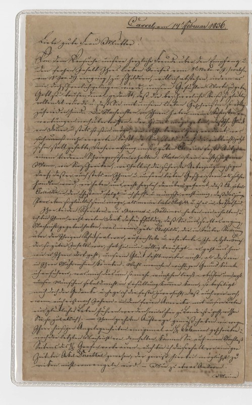 Crede family letter, February 14, 1836, p. 1