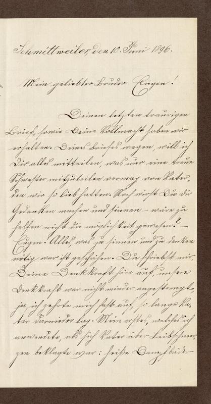 Klee family letter, June 10, 1896