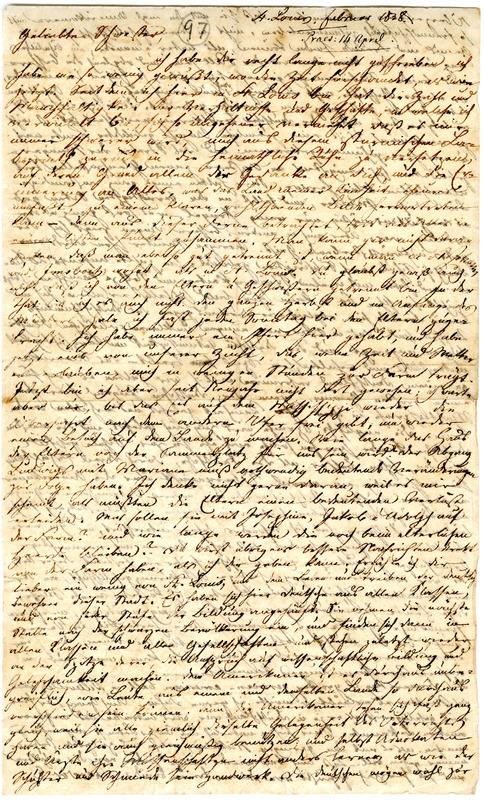 Theodor Engelmann to Margarethe Hilgard, February, 1838, p. 1