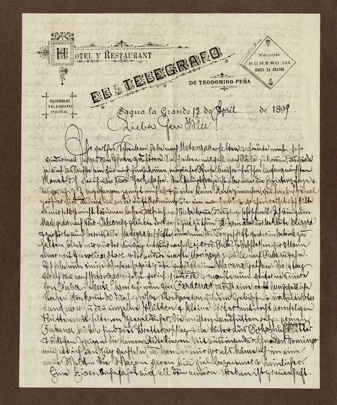 Klee family letter, April 13, 1899