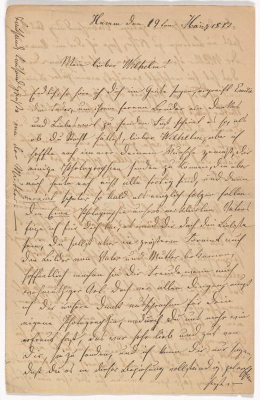 Emilie Hassel to Friedrich Wilhelm Hess, March 19, 1872