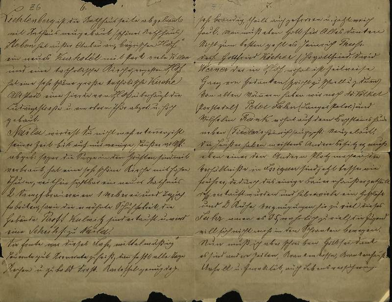 Schulz family letter, January 3, 1898, page 6 [left-hand] and page 7 [right-hand]