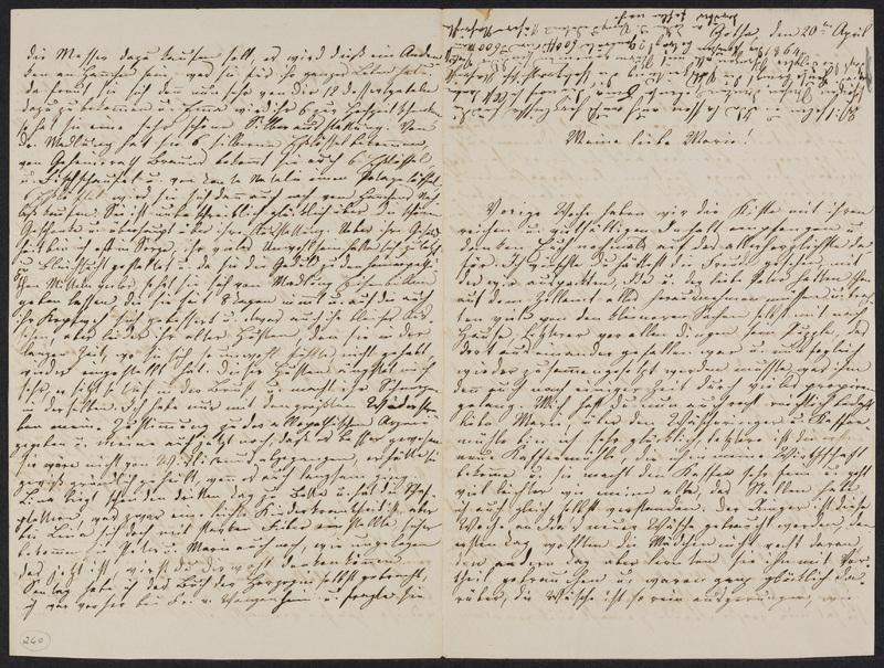 Lina Hansen to Marie Hansen Taylor, April 20, 1864