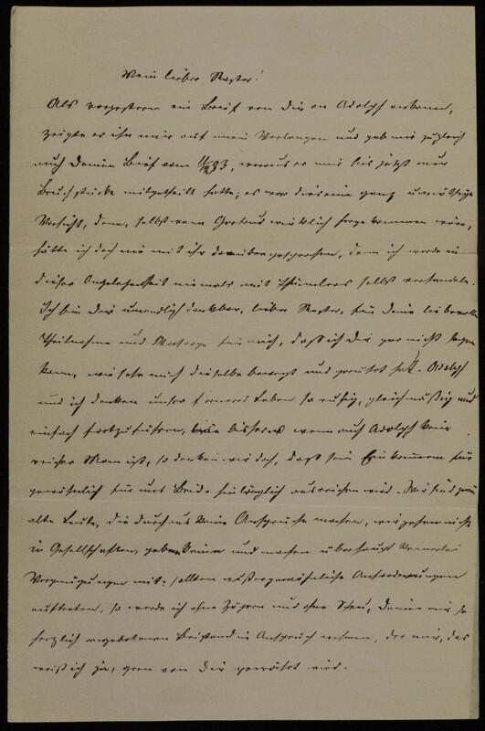 Anna Oppenheim to Margarethe Raster and Hermann Raster, January 27, 1884