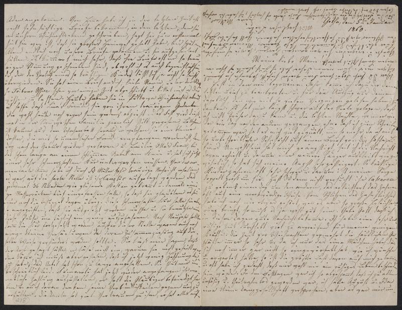 Lina Hansen to Marie Hansen Taylor, January 5, 1860