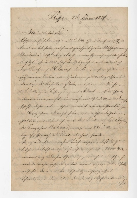 Crede family letter, February 22, 1854