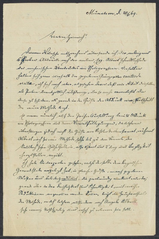 Robert von Xylander to Henry Villard, June 20, 1869