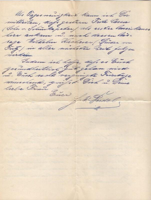 Fritz W. Berdel to Eugen Klee, November 23, 1919, p. 4