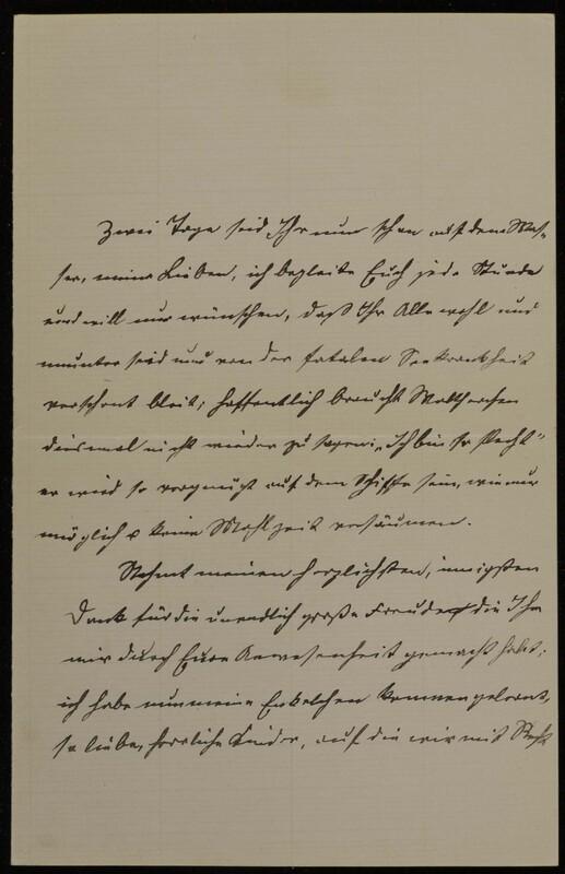 Anna Oppenheim to Margarethe Raster, October 18, 1886