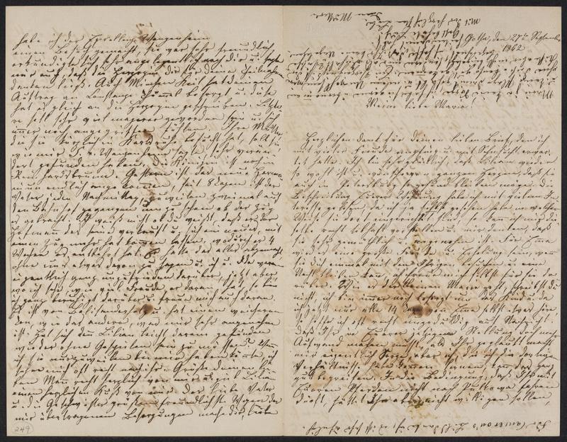 Lina Hansen to Marie Hansen Taylor, September 27, 1862