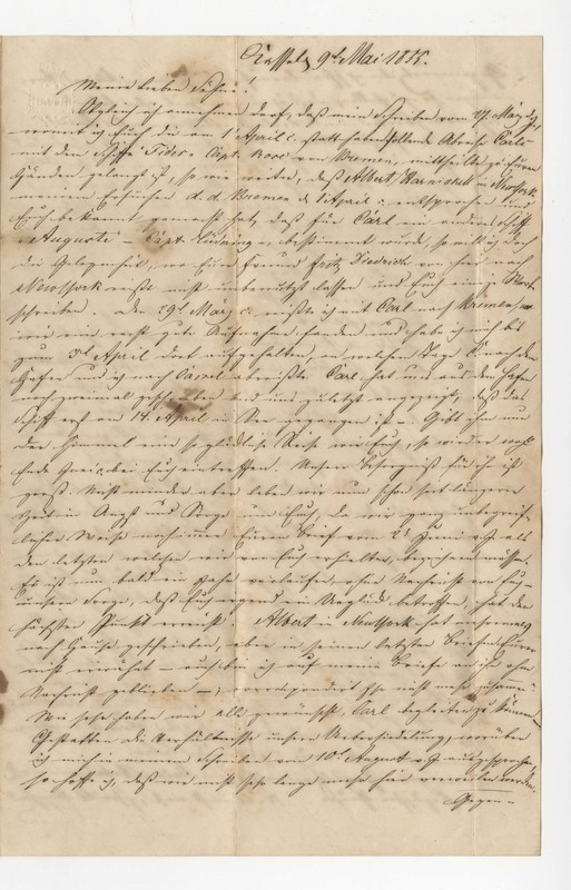 Crede family letter, May 9, 1855
