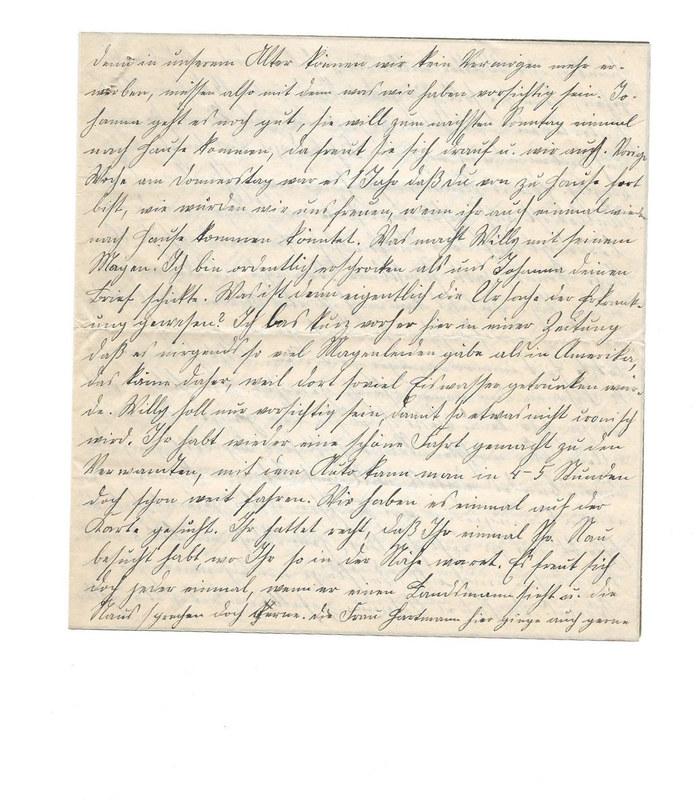 Caroline Emmel to Karl Emmel, October 11, 1926, p. 3