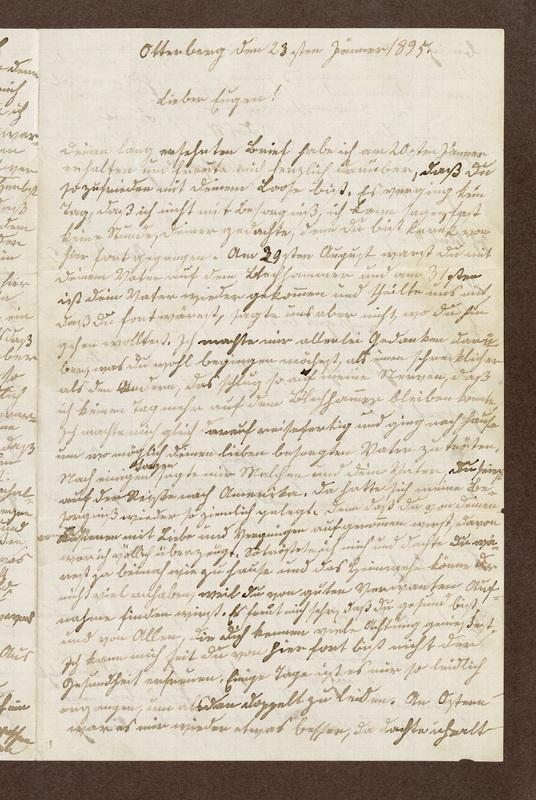 Klee family letter, January 23, 1895