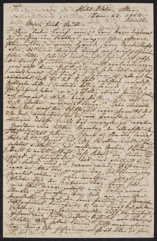 Marie Hansen Taylor to Lina Hansen, January 22, 1858