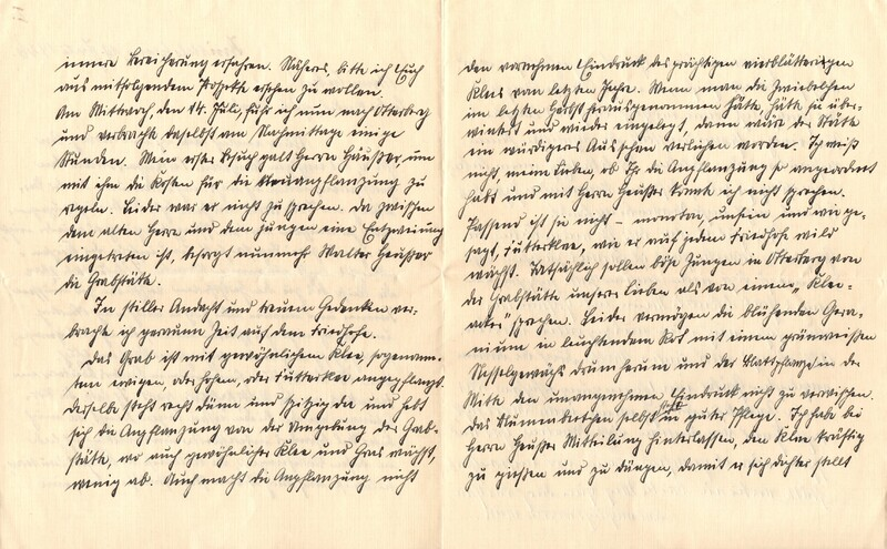 Eugen and Lisbeth Haas to Eugen Klee, July 19, 1926, p. 2 and p. 3