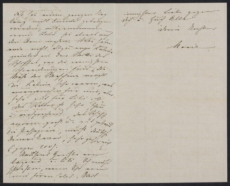 Marie Hansen Taylor to Lina Hansen, October 4, 1858, p. 2 and p. 3