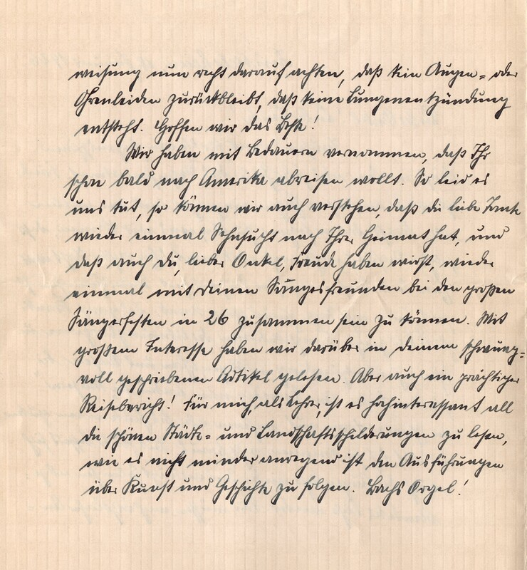 Eugen and Lisbeth Haas to Eugen Klee, January 18, 1926, p. 2