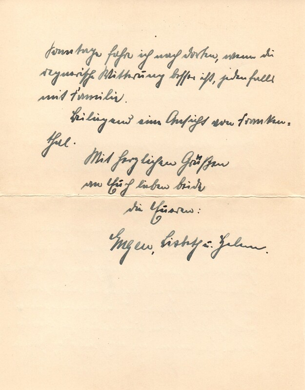 Eugen and Lisbeth Haas to Eugen Klee, April 26, 1927, p. 2