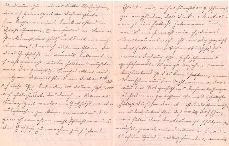 Fritz W. Berdel to Eugen Klee, July 6, 1920, p. 10  and p. 11