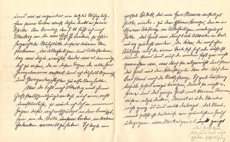 Eugen and Lisbeth Haas to Eugen Klee, November 11, 1926, p. 2 and p. 3