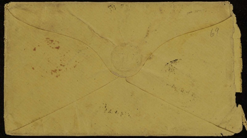 Höfeln family letter, November 14, 1869, envelope, back