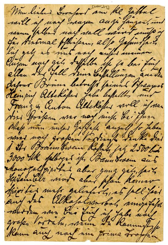 August Stockebrand to Bernard Rustemeyer, January, 1923