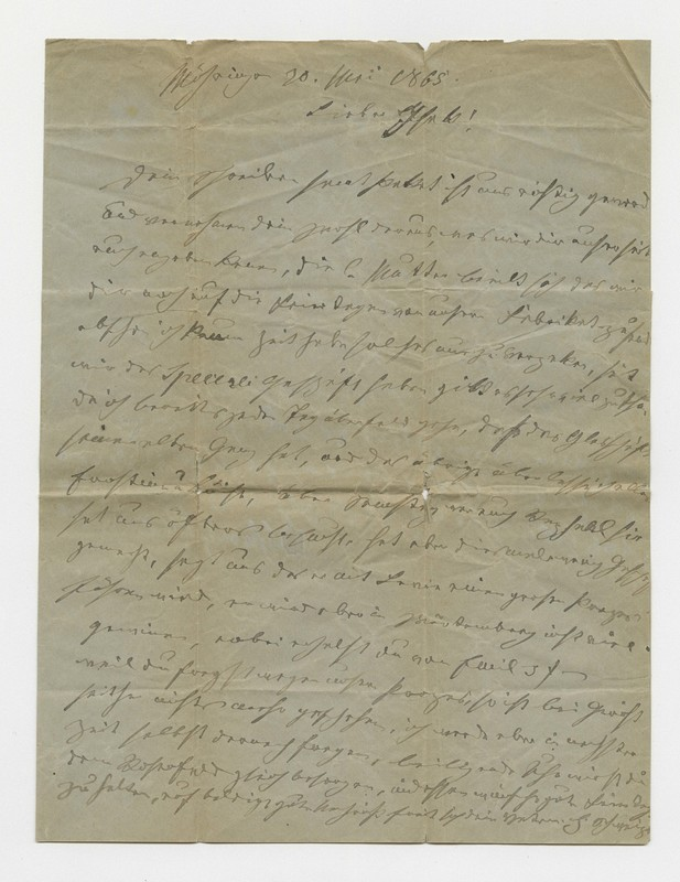 Schweitzer family letter, May 20, 1865