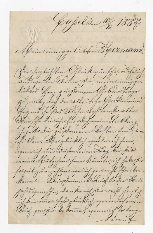 Therese Winhold and Ada Winhold to Hermann Crede, February 10, 1887