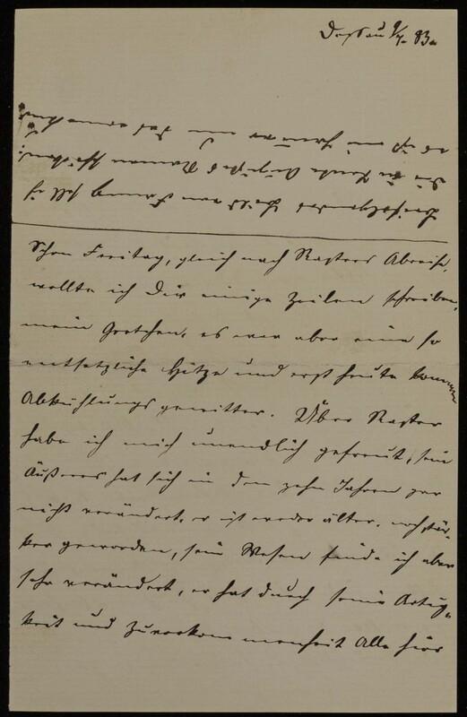 Anna Oppenheim to Margarethe Raster, July 9, 1883