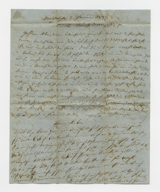 Schweitzer family letter, January 3, 1873