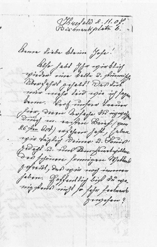 Benecke family letter, November 2, 1907, p. 1