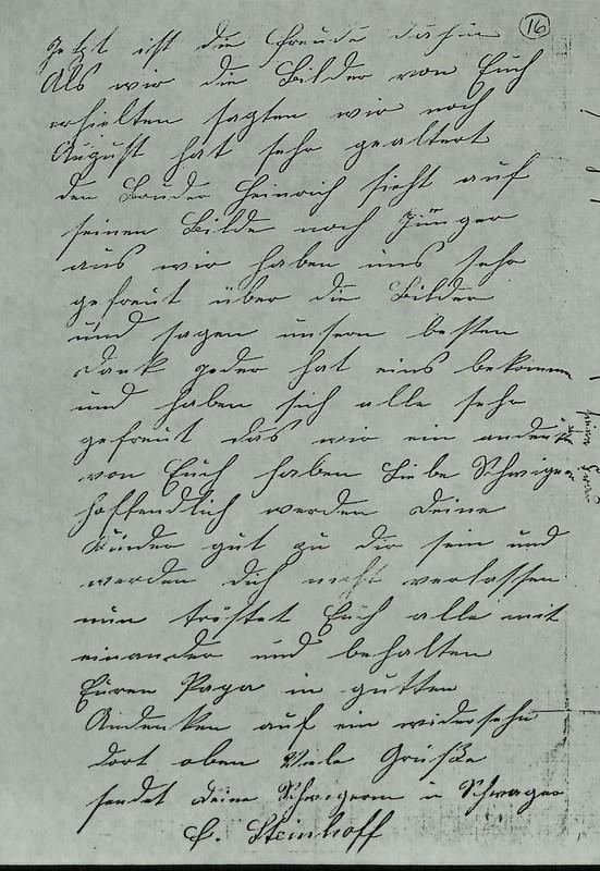 Conrad Steinhoff to Gisela Blumenberg, November 8, 1911, p. 2