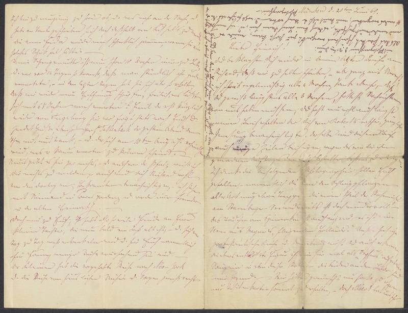 Emma Hilgard (von Xylander) to Henry Villard, June 20, 1869